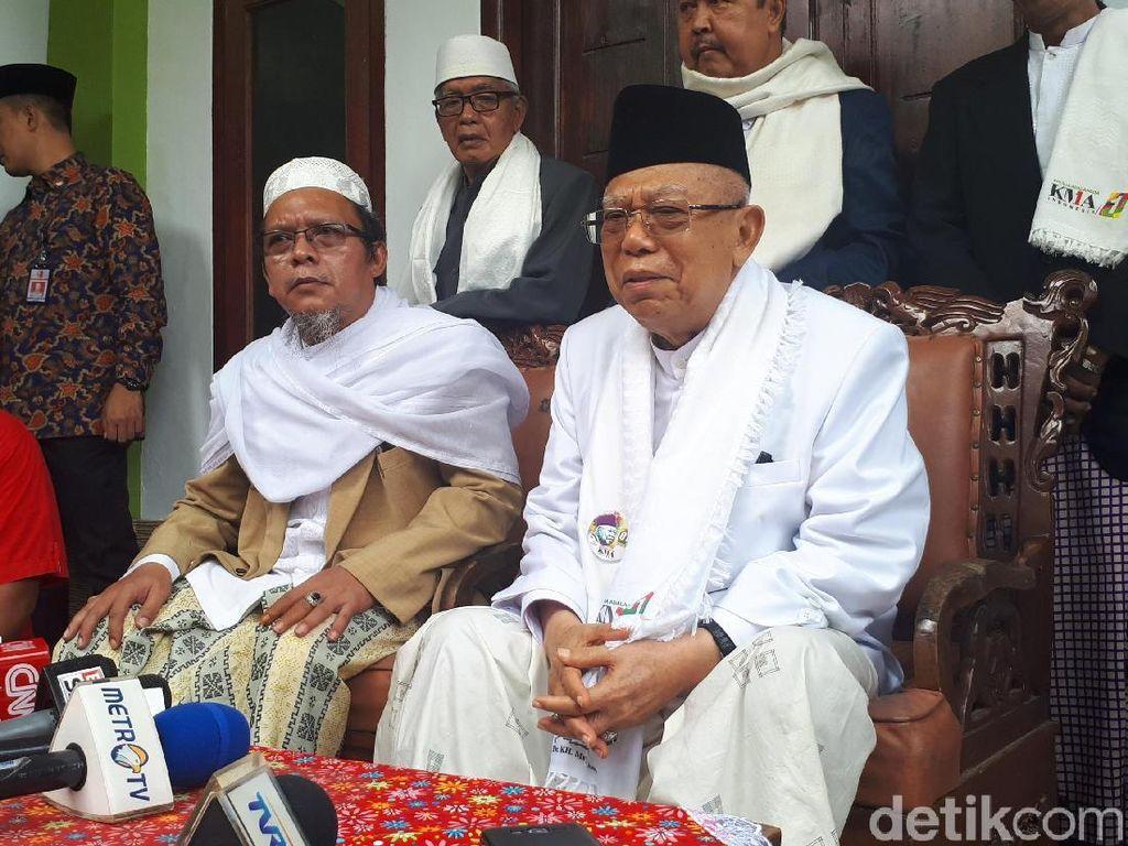 Maruf Amin akan Maafkan Pelaku Edit Video Sinterklas