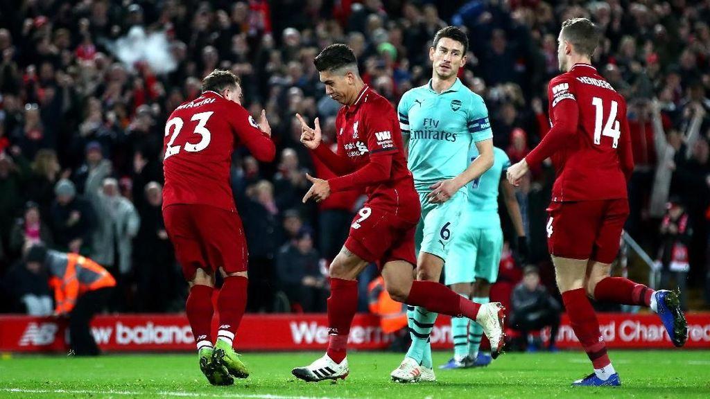 Catatan-Catatan yang Terukir di Duel Liverpool vs Arsenal