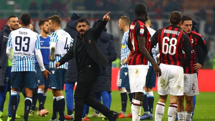 AC Milan akan menghadapi SPAL di laga terakhir Serie A 2018/2019. (Foto: Marco Luzzani/Getty Images)