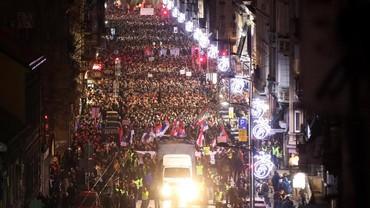 Video Warga Serbia Tumpah ke Jalan Protes Presiden Vucic