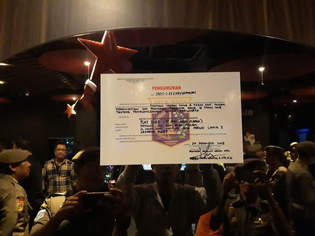 Pemprov DKI Tutup Sementara Diskotek Play A Sure di Jakpus