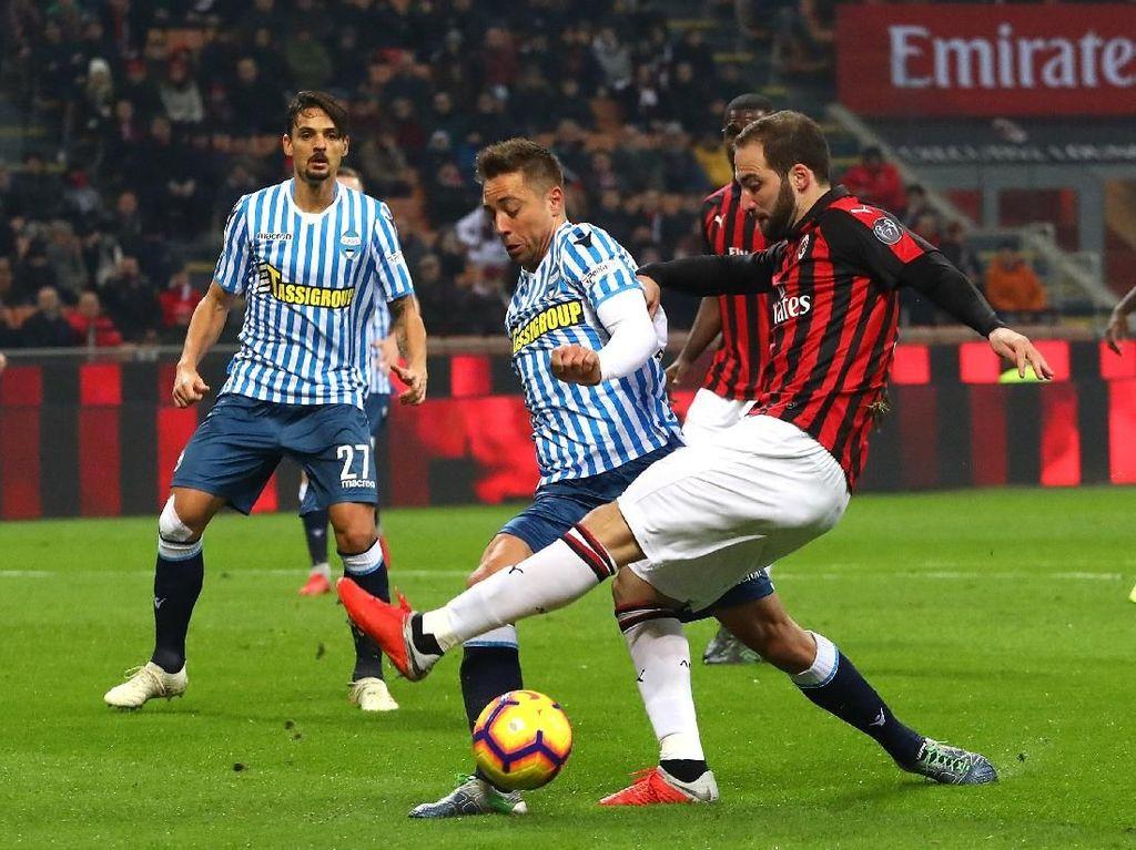 Hasil Liga Italia: Milan Akhiri Puasa Kemenangan