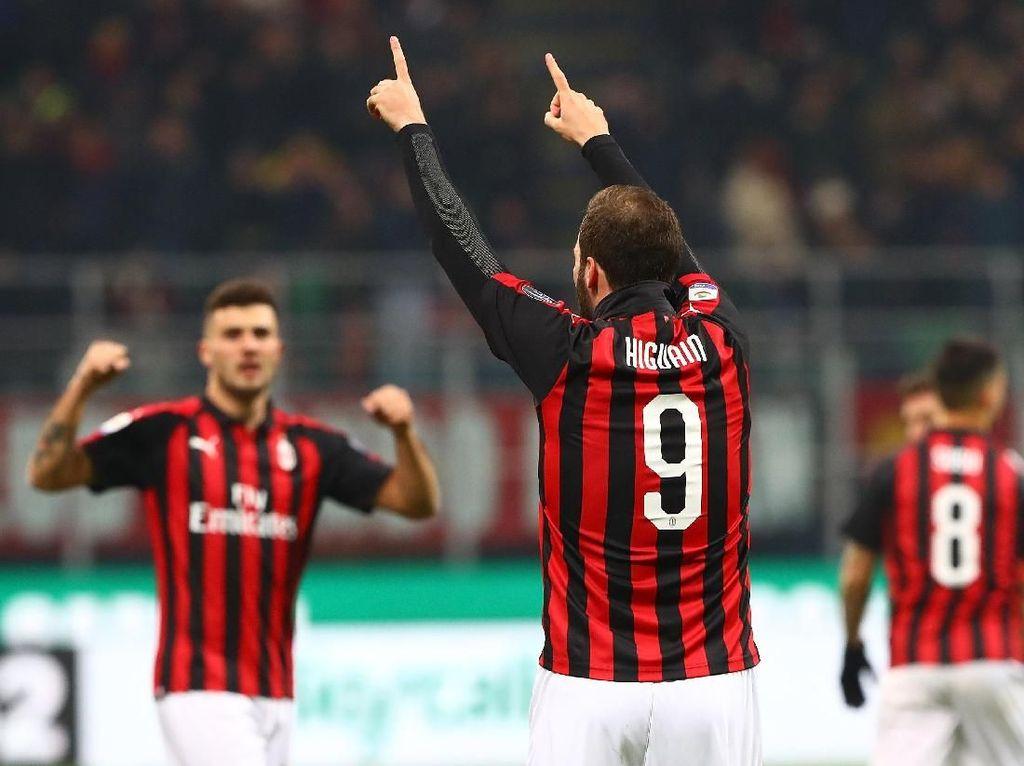 Higuain Sudahi Paceklik Gol, Milan pun Menang