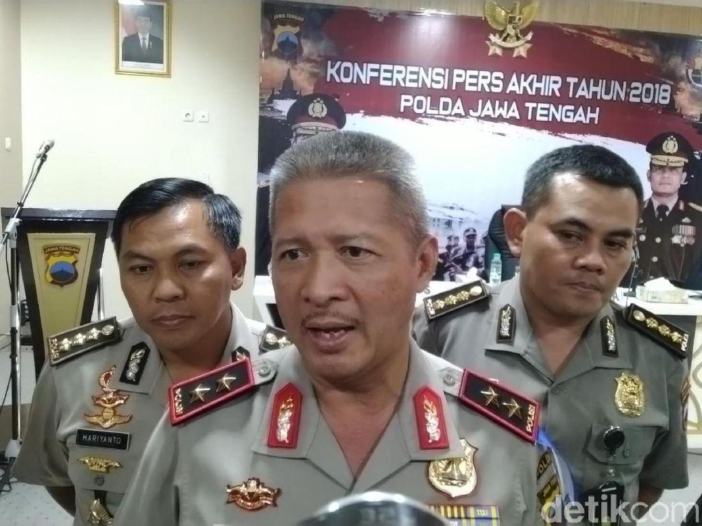 Tahun 2018, Tiap 55 Menit Ada 1 Kejahatan di Jawa Tengah