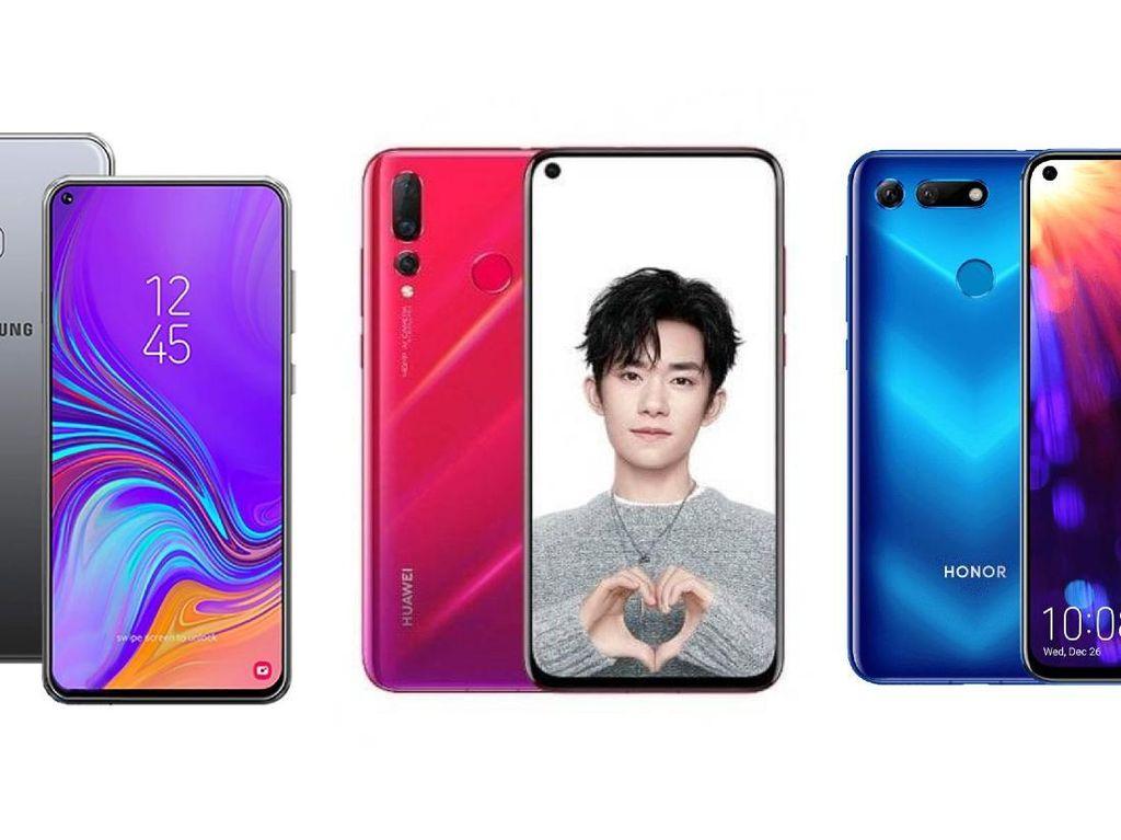 Perbandingan Ponsel Layar Bolong Samsung, Huawei, dan Honor
