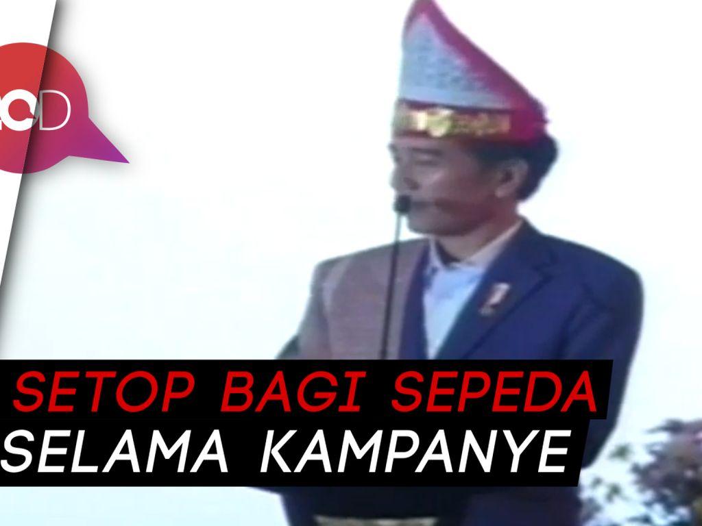 Warga Medan Minta Sepeda, Kelakar Jokowi: Beli Sendiri