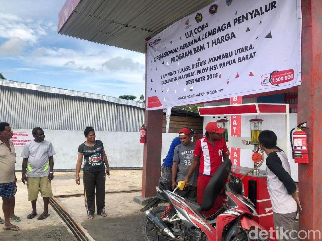 Akhirnya, Harga BBM di Kampung Papua Barat Ini Sama dengan di Jawa