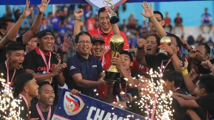 Persik Kediri saat juara Liga 3 2018. (dok. PSSI)