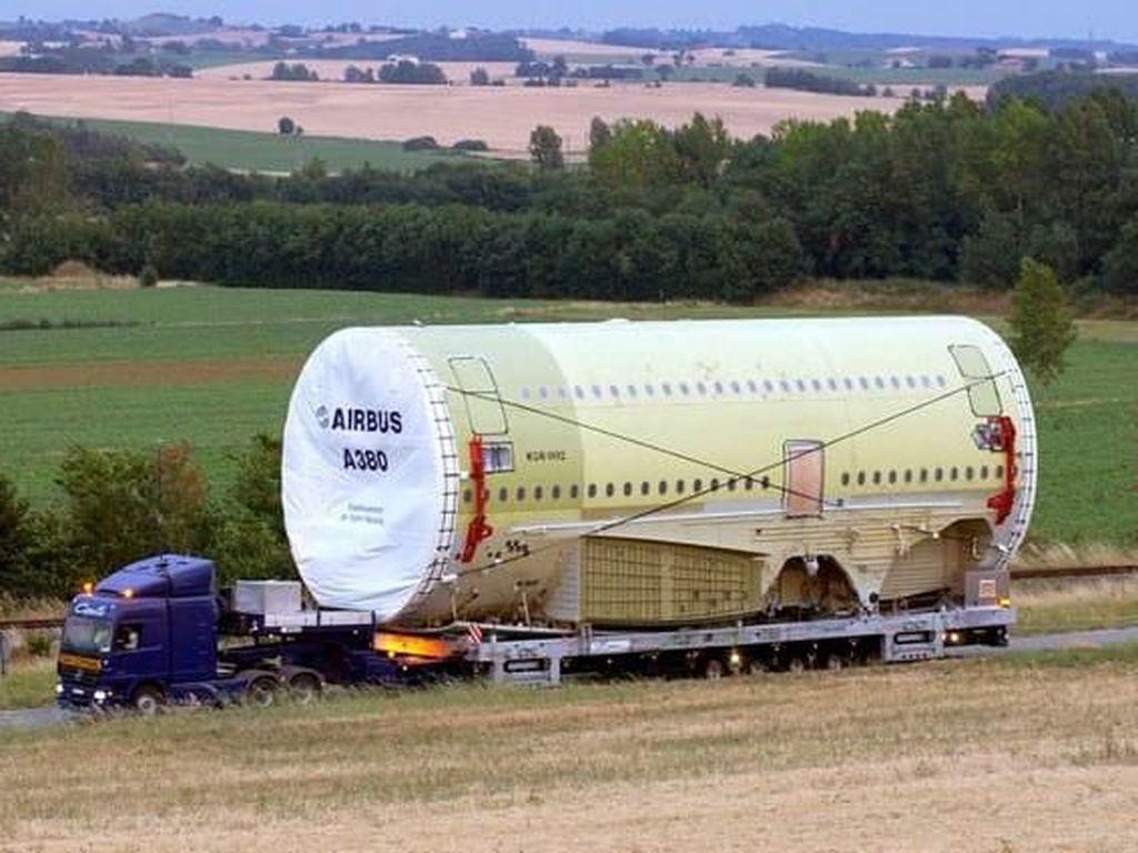 Potret Rumitnya Mengirim Bagian Pesawat Raksasa Airbus A380