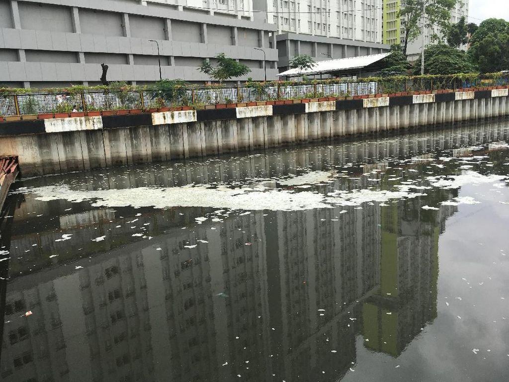 UPK Badan Air DKI Ungkap Penyebab Munculnya Busa di Kali Item