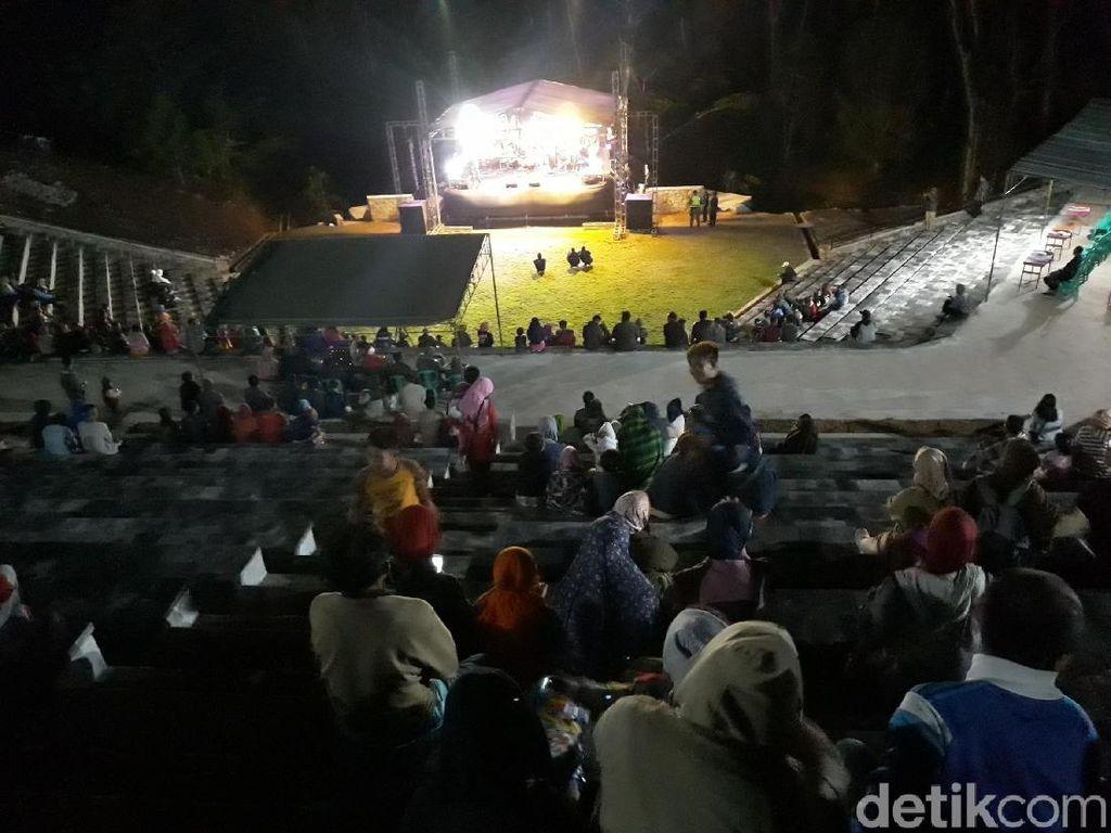 Foto: Amphiteater, Spot Wisata Baru di Nglanggeran Gunungkidul
