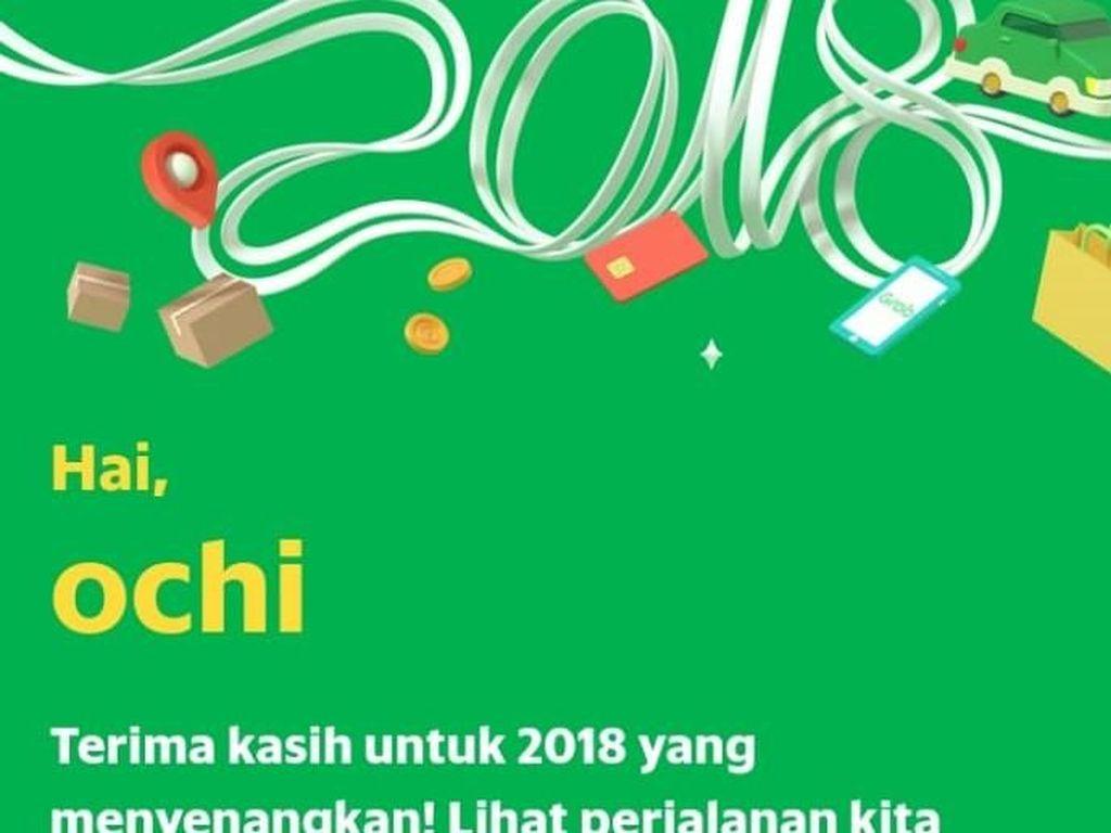 Kreatif! Lihat Rapormu di Go-Jek dan Grab Selama 2018