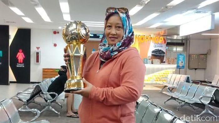 Retno Sukmawati, manajer PSS Sleman (Ristu Hanafi/detikSport)