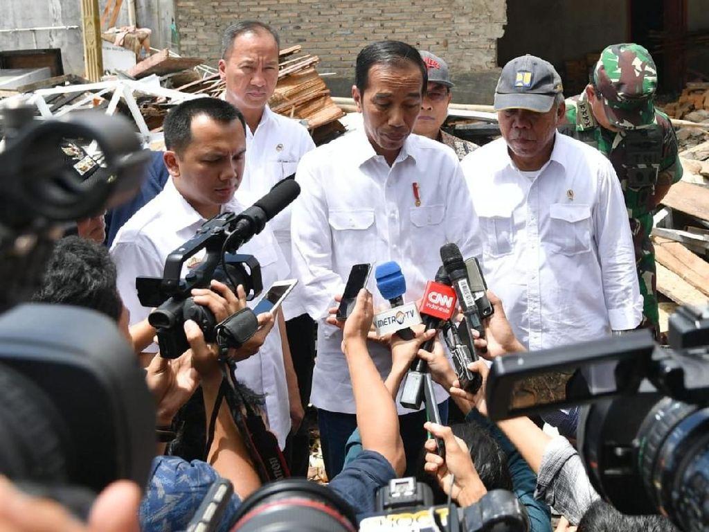 Jokowi: Korban Tsunami di Lampung Minta Direlokasi ke Dataran Tinggi