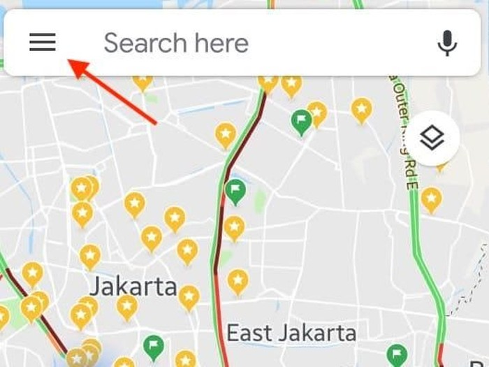 Foto: screenshot Google Maps/Begini Cara Memakai Google Maps Saat Tersesat Arah Jalan
