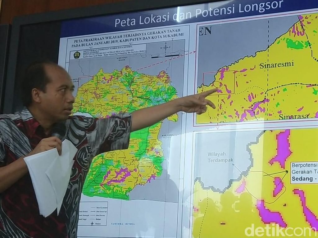 BNPB: 33 Kecamatan di Sukabumi Rawan Longsor di Januari Ini