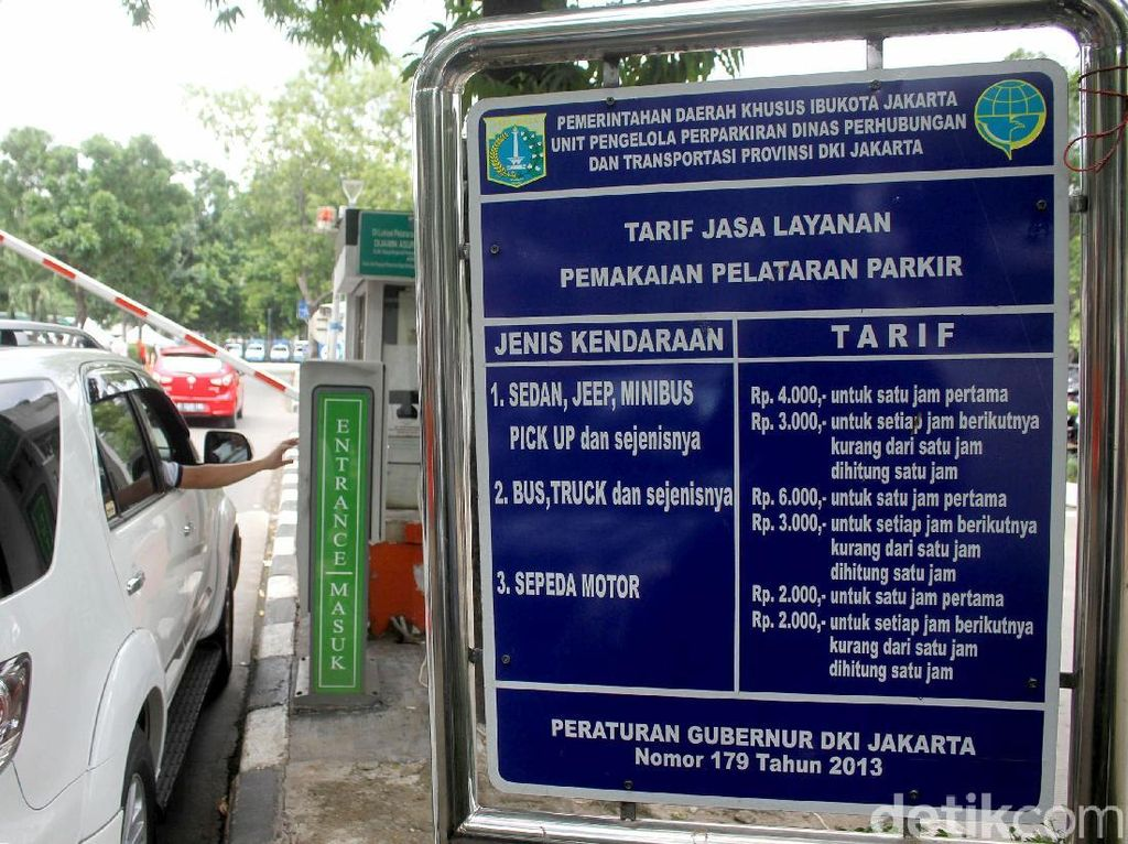 Tarif Parkir Kendaraan PNS di IRTI Monas Naik 8 Kali Lipat