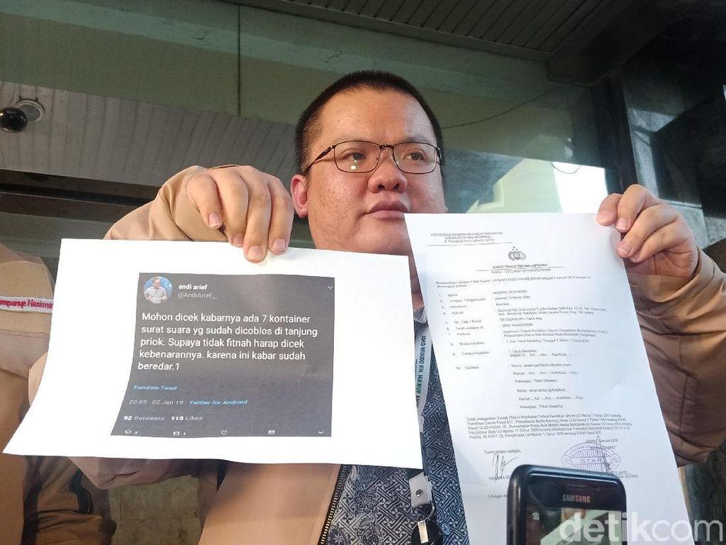 Timses Jokowi Polisikan Andi Arief soal Hoax Surat Suara Tercoblos