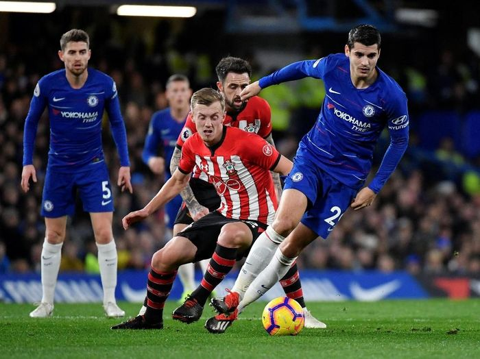 Pemain Chelsea, Alvaro Morata. (Foto: Toby Melville/Reuters)