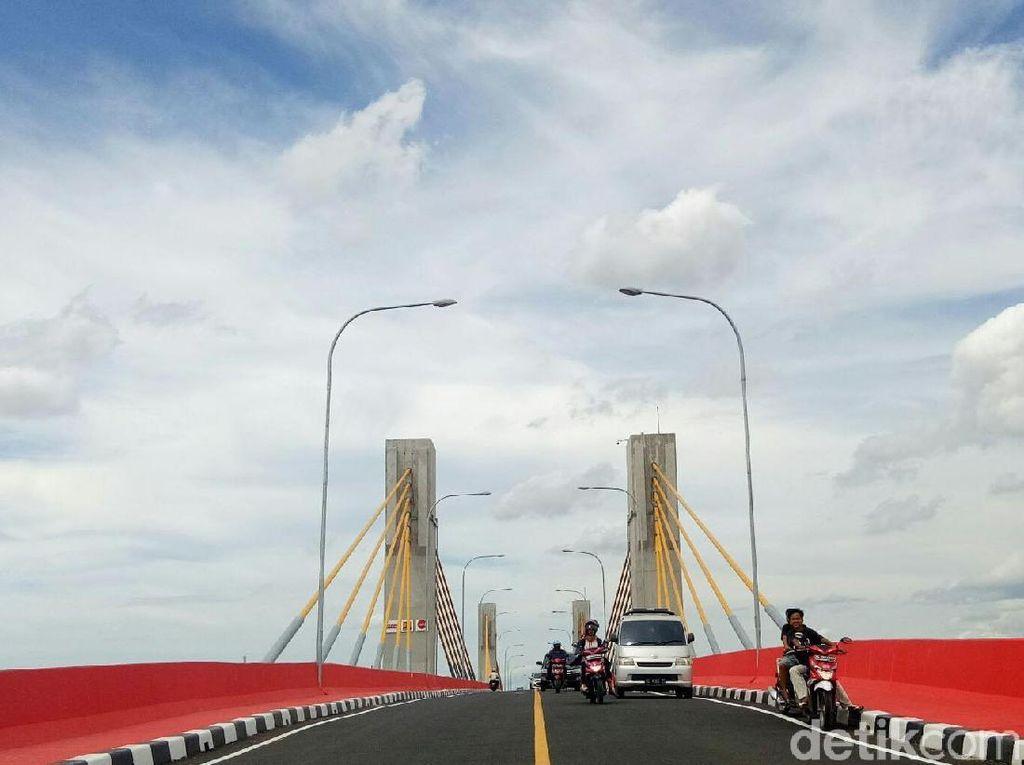Jembatan Musi IV Soft Launching, 700 M Jalan Akses Belum Bebas