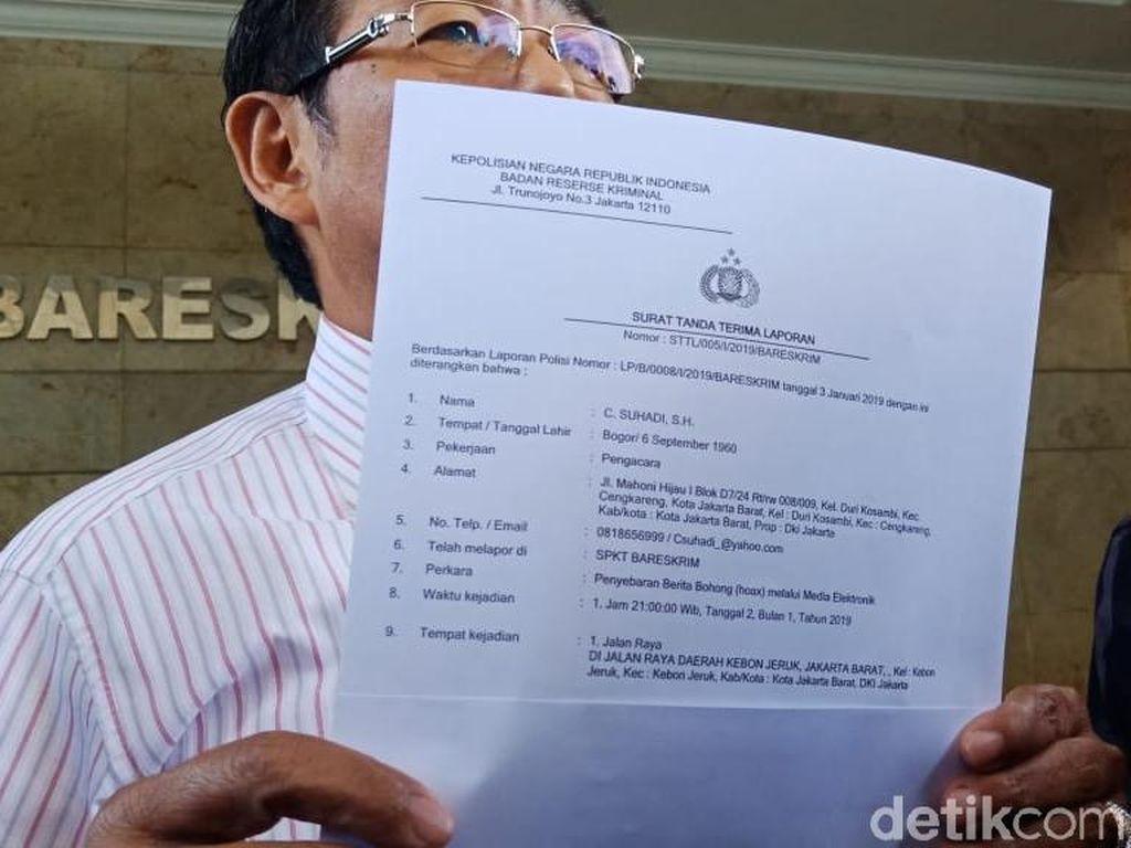 Relawan Jokowi Laporkan Politikus A soal Hoax Surat Suara Tercoblos