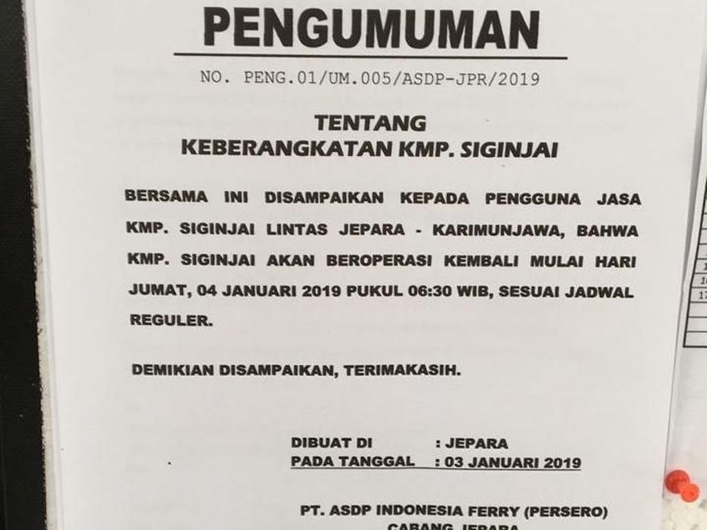 Besok 2 Kapal Jemput 224 Wisatawan yang Tertahan di Karimunjawa