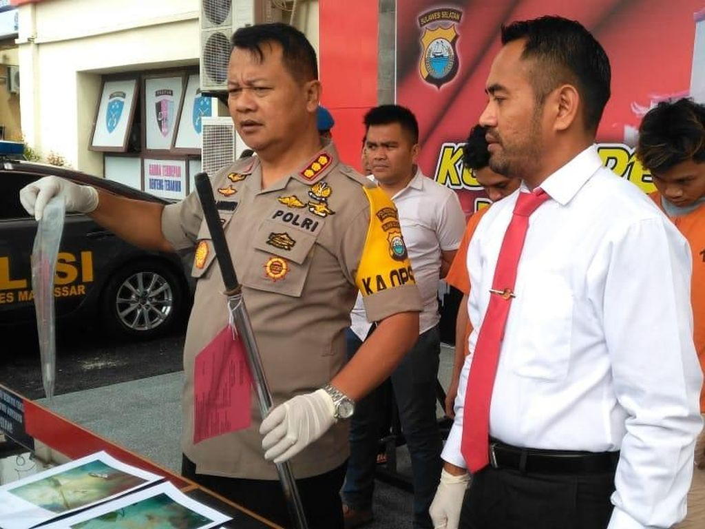 Polisi Tangkap 2 Penikam Anggota Brimob di Makassar