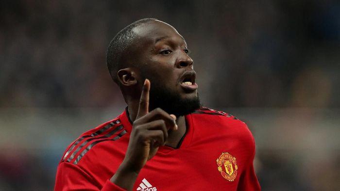 Pemain Manchester United, Romelu Lukaku. (Foto: Scott Heppell/Reuters)