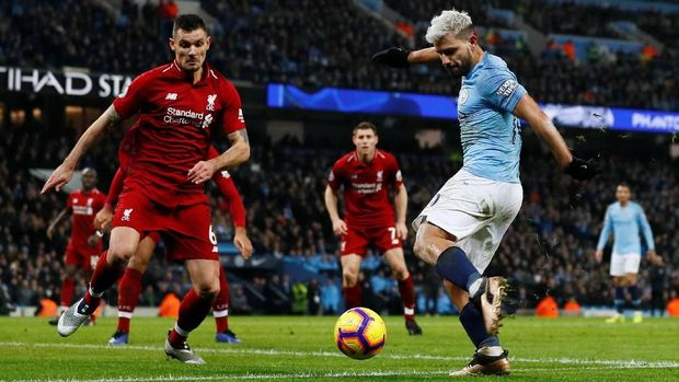Manchester City menang 2-1 atas Liverpool di Stadion Etihad.