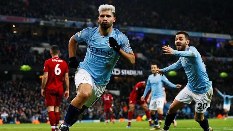 Di Etihad, Gawang Liverpool Memang Santapan Empuk Aguero