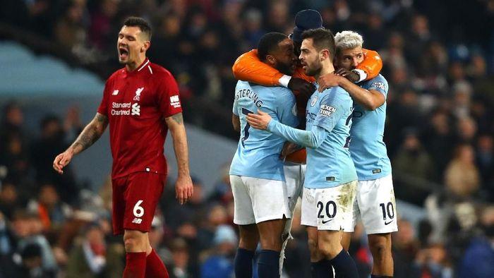 Manchester City saat melawan Liverpool. (Foto: Clive Brunskill/Getty Images)