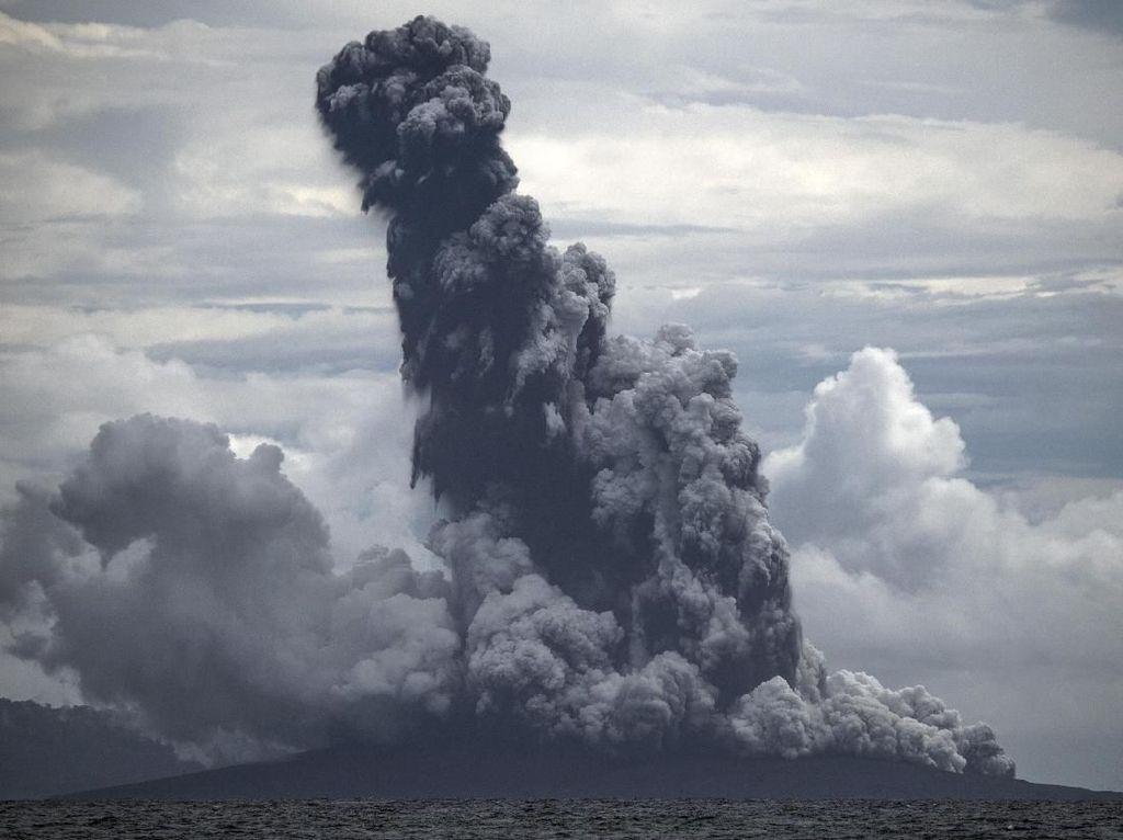 Penampakan Terbaru Gunung Anak Krakatau dari Citra Satelit