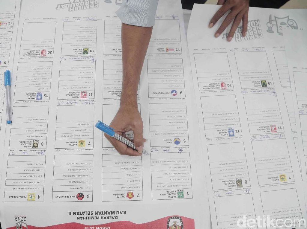 Situng KPU Pileg 51,9%: 5 Besar Diisi PDIP-Golkar-Gerindra-PKB-NasDem