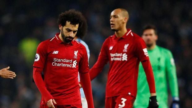 Liverpool kini hanya berjarak empat poin dari Manchester City.