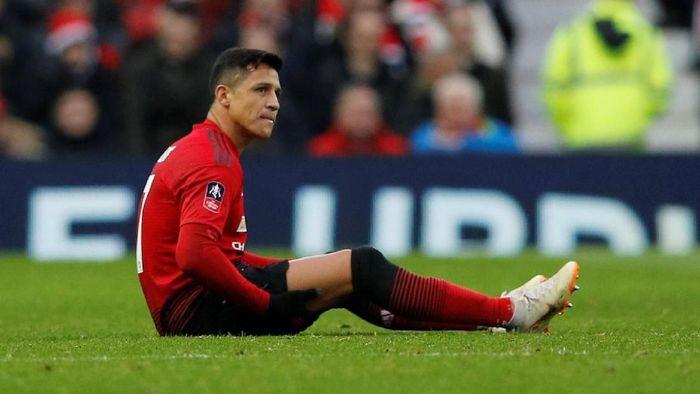 Pemain Manchester United, Alexis Sanchez. (Foto: Phil Noble/Reuters)