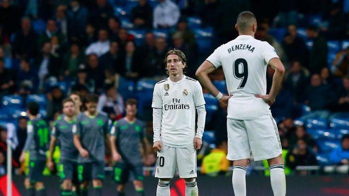 Real Madrid kalah 0-2 saat menjamu Real Sociedad. (Foto: Gonzalo Arroyo Moreno/Getty Images)