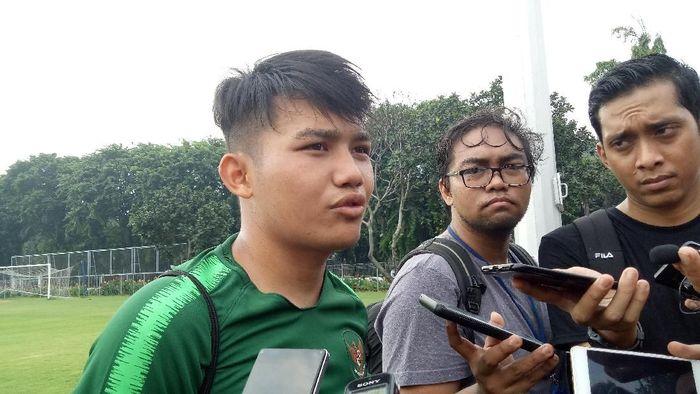Witan Sulaeman relaks mengikuti seleksi Timnas U-22. (Amalia Dwi Septi/detikSport)