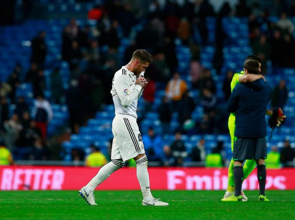 Sergio Ramos: Wasit Memalukan, Jadi Biang Keladi Kekalahan Madrid