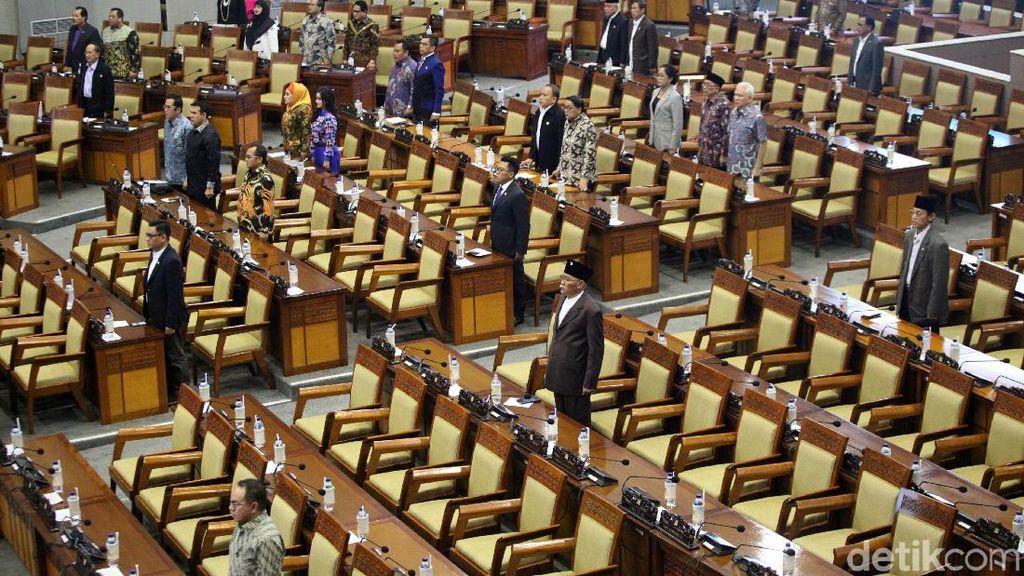 310 Anggota DPR Absen, Begini Kondisi Sidang Paripurna Awal Tahun