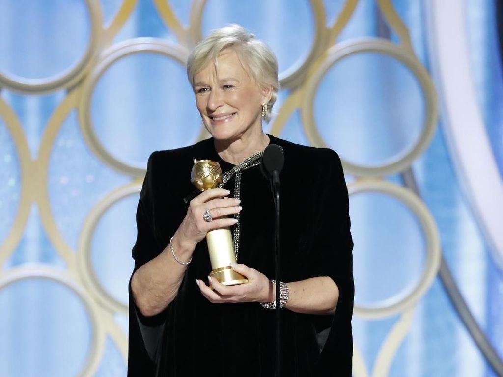 Glenn Close Beri Pesan untuk Perempuan saat Terima Piala Golden Globe 2019