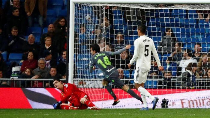 Real Madrid kalah 0-2 dari Real Sociedad di Bernabeu (Juan Medina/Reuters)