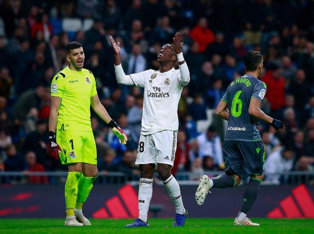 Debat Vinicius-Rulli soal Klaim Penalti Madrid Berlanjut di Medsos