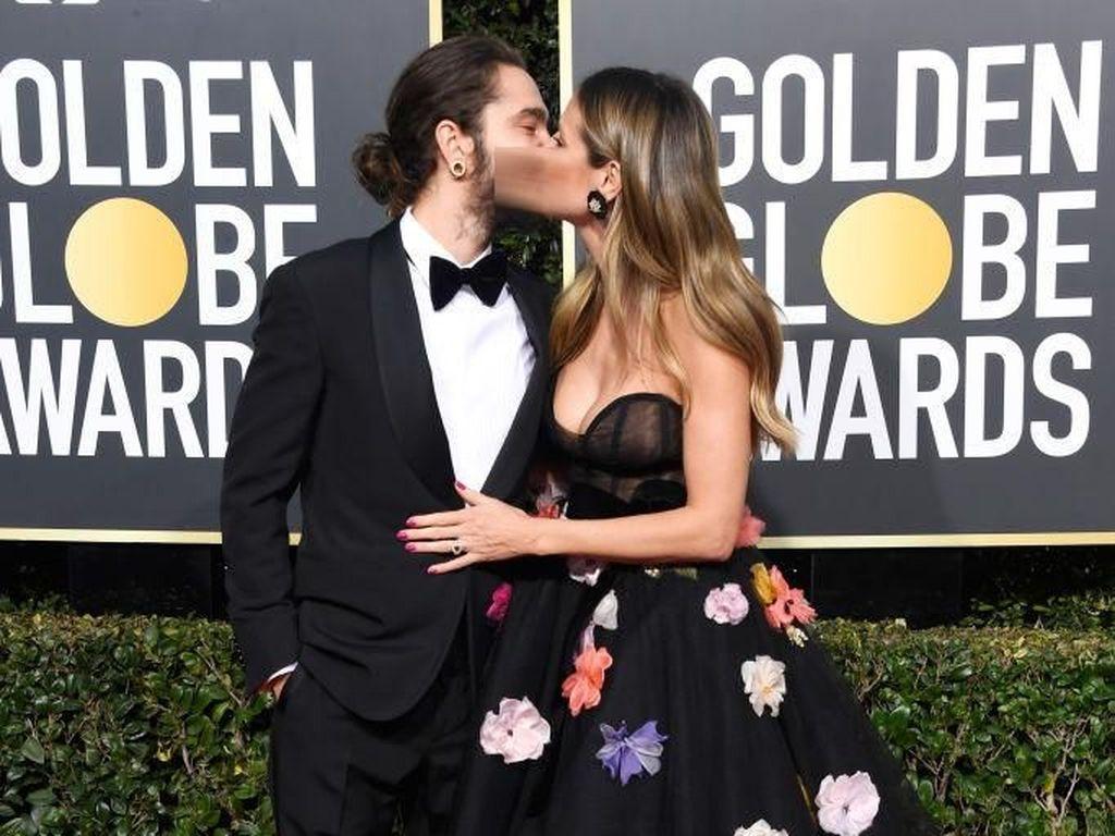 Ciuman Mesra Heidi Klum untuk Tom Kaulitz di Golden Globe Awards 2019