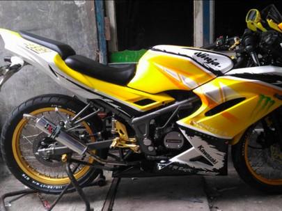 Super Yellow! Kawasaki Ninja 150 RR yang Tampil Ceria