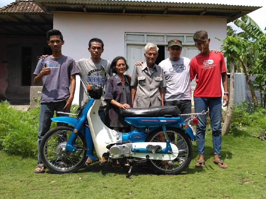 Motor Bebek Jadul Yamaha V75 Disulap Jadi Baru Lagi