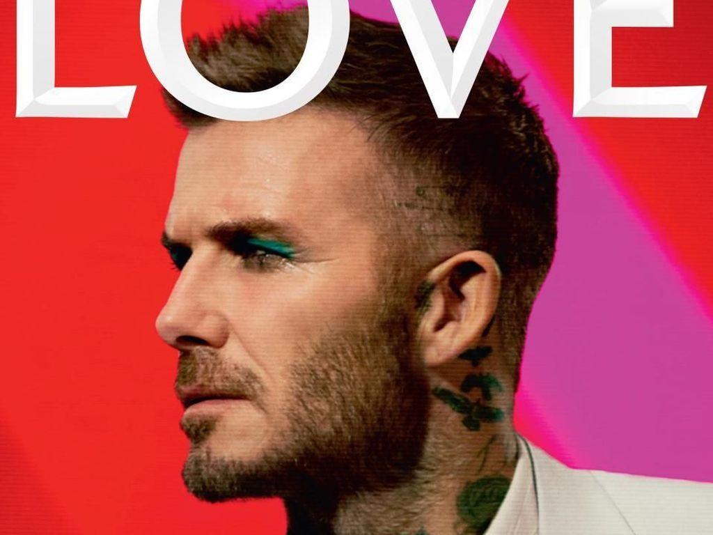 Penampilan Mengejutkan David Beckham Pakai Eyeshadow Hijau