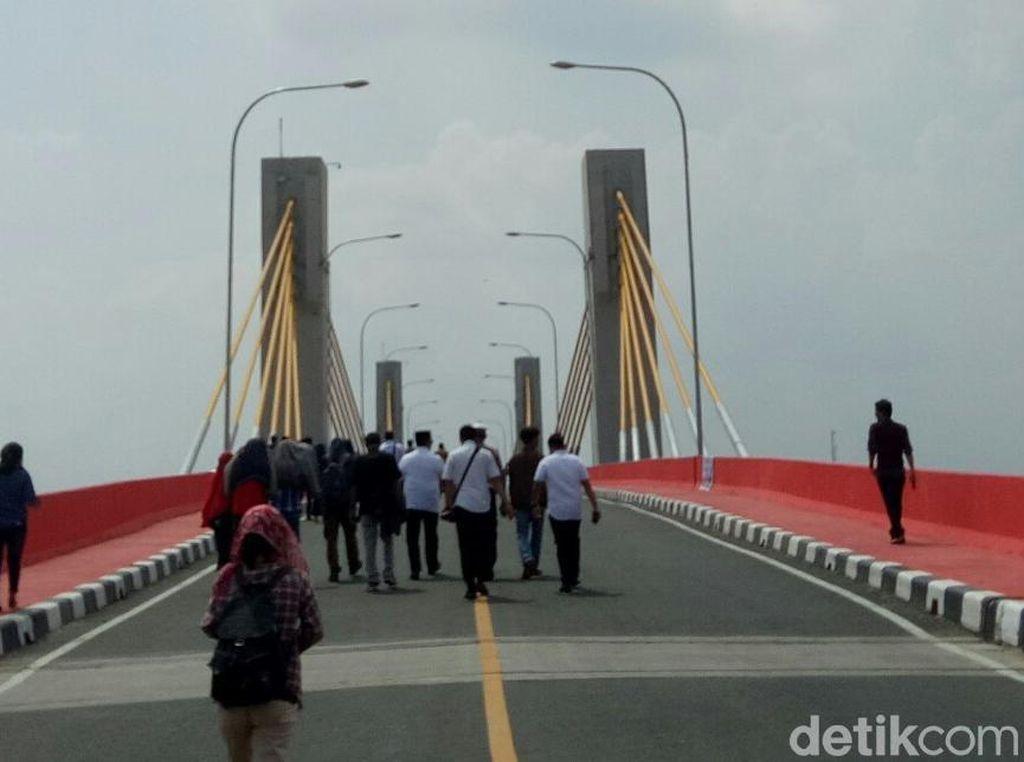 Ujung Jembatan Musi IV Jadi Sumber Kemacetan Baru