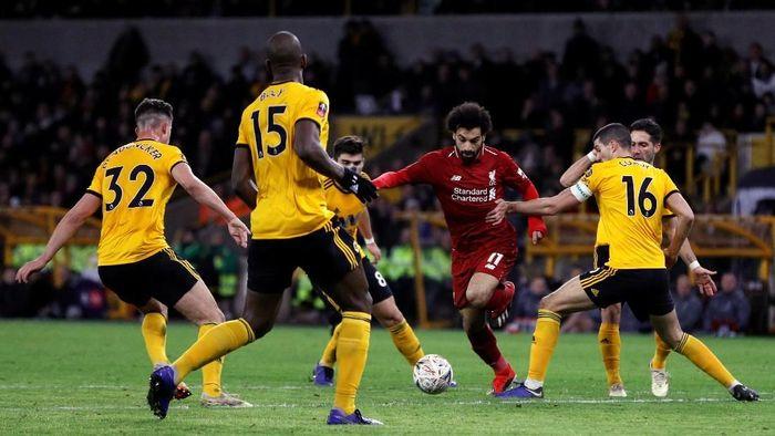 Liverpool disingkirkan Wolverhampton di babak ketiga Piala FA 2018/2019 (Darren Staples/Reuters)