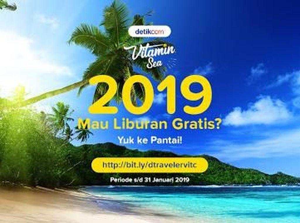 Posisi Sementara Pantai Pilihan dTraveler untuk Vitaminsea 2019