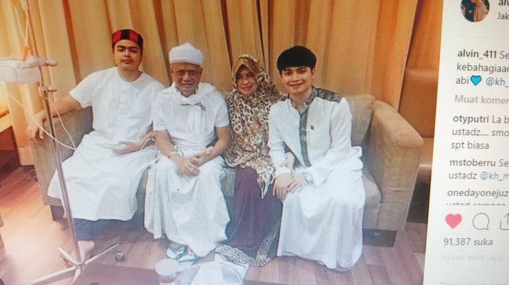 Sempat Menjenguk, Kapolri Doakan Kesembuhan Ustaz Arifin Ilham